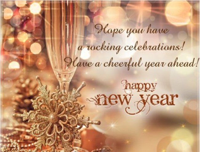 wish u a happy new year status