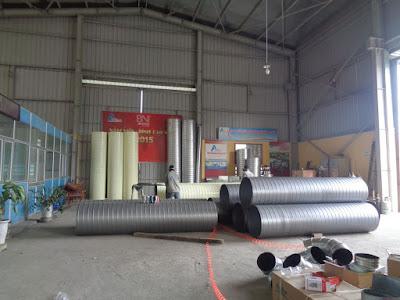 Ưu điểm của ống gió tròn xoắn trong công nghiệp