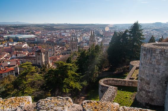 Castillo de Burgos. Vistas de la catedral