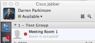 Room Availability with Cisco Jabber   Parky's Place