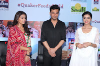 Shriya Saran and Meenakshi Dixit Pos at Quaker Feed A Child Campaign  0014.jpg