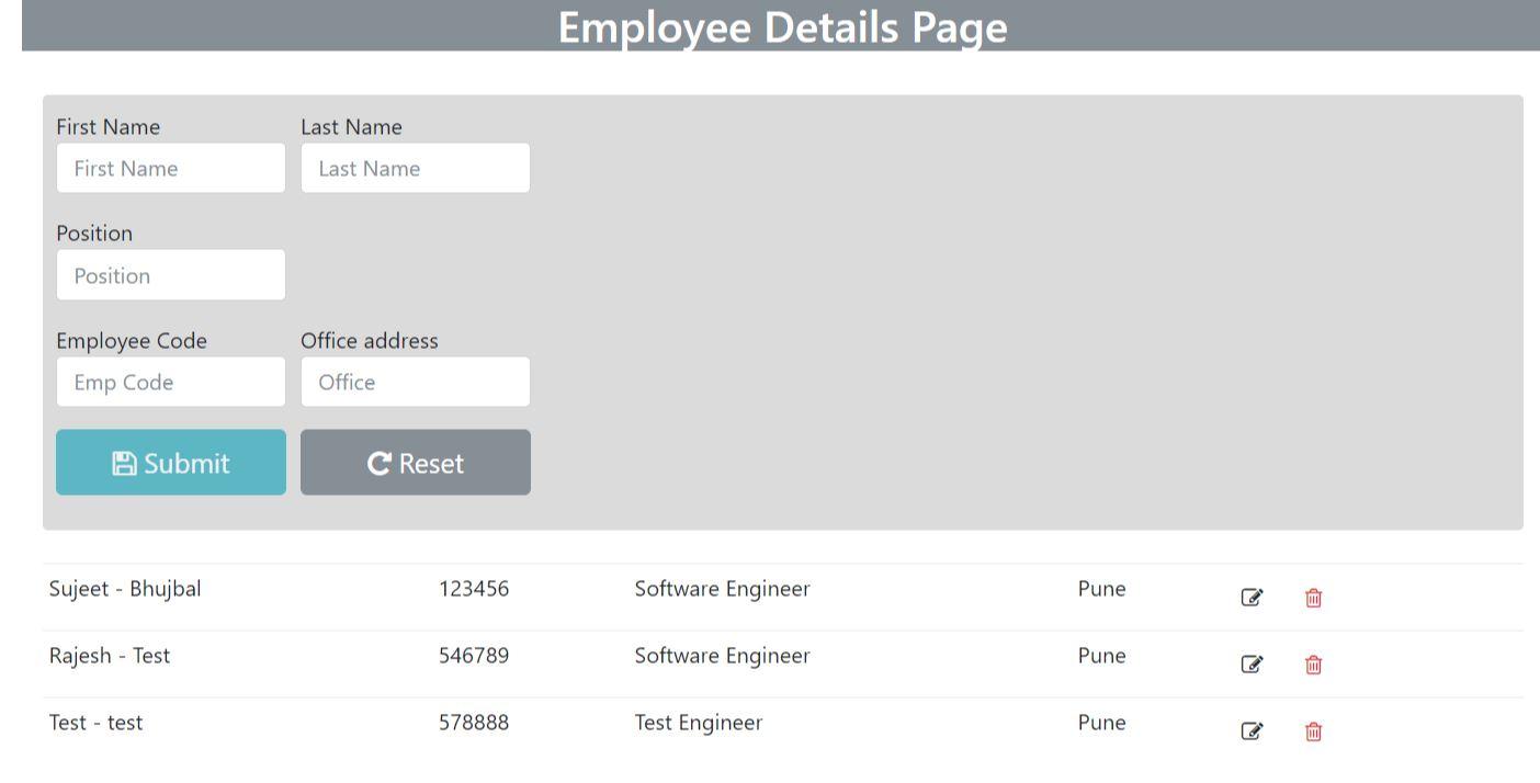 Angular 4 Insert,Update, Delete with ASP NET WEB API