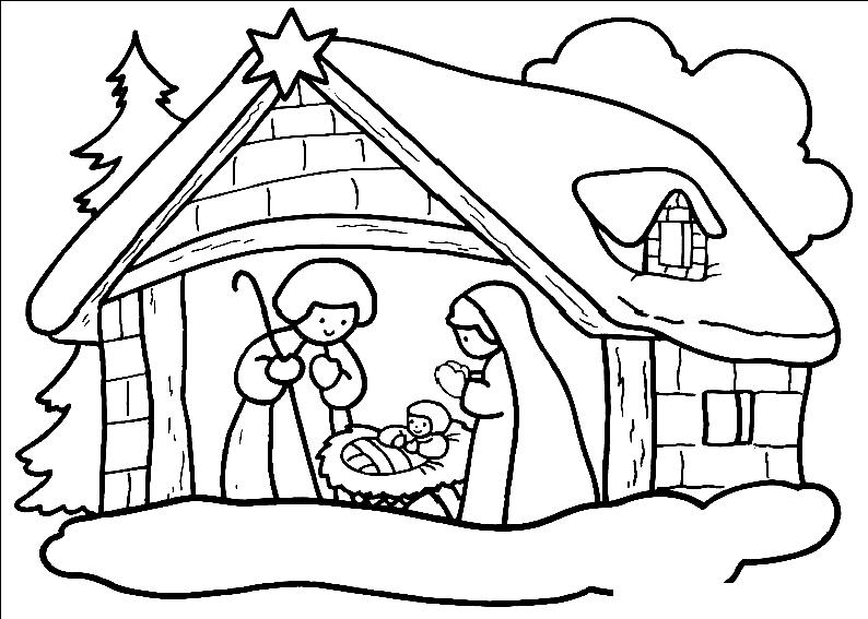Pentru Biserici Np Desene De Colorat Crăciun Nașterea