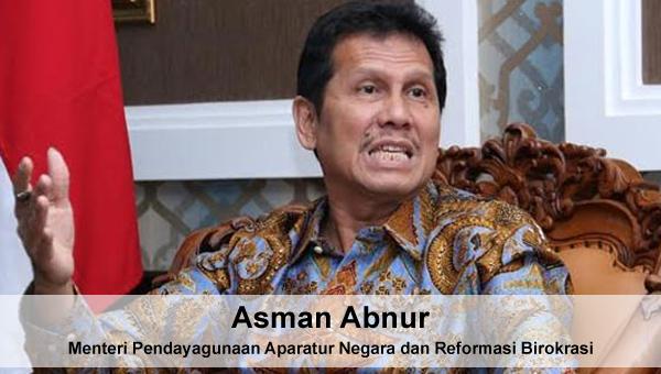 Hasil gambar untuk menpan rb asman abnur