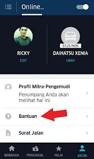 Mengubah foto profil Uber Driver Via Aplikasi