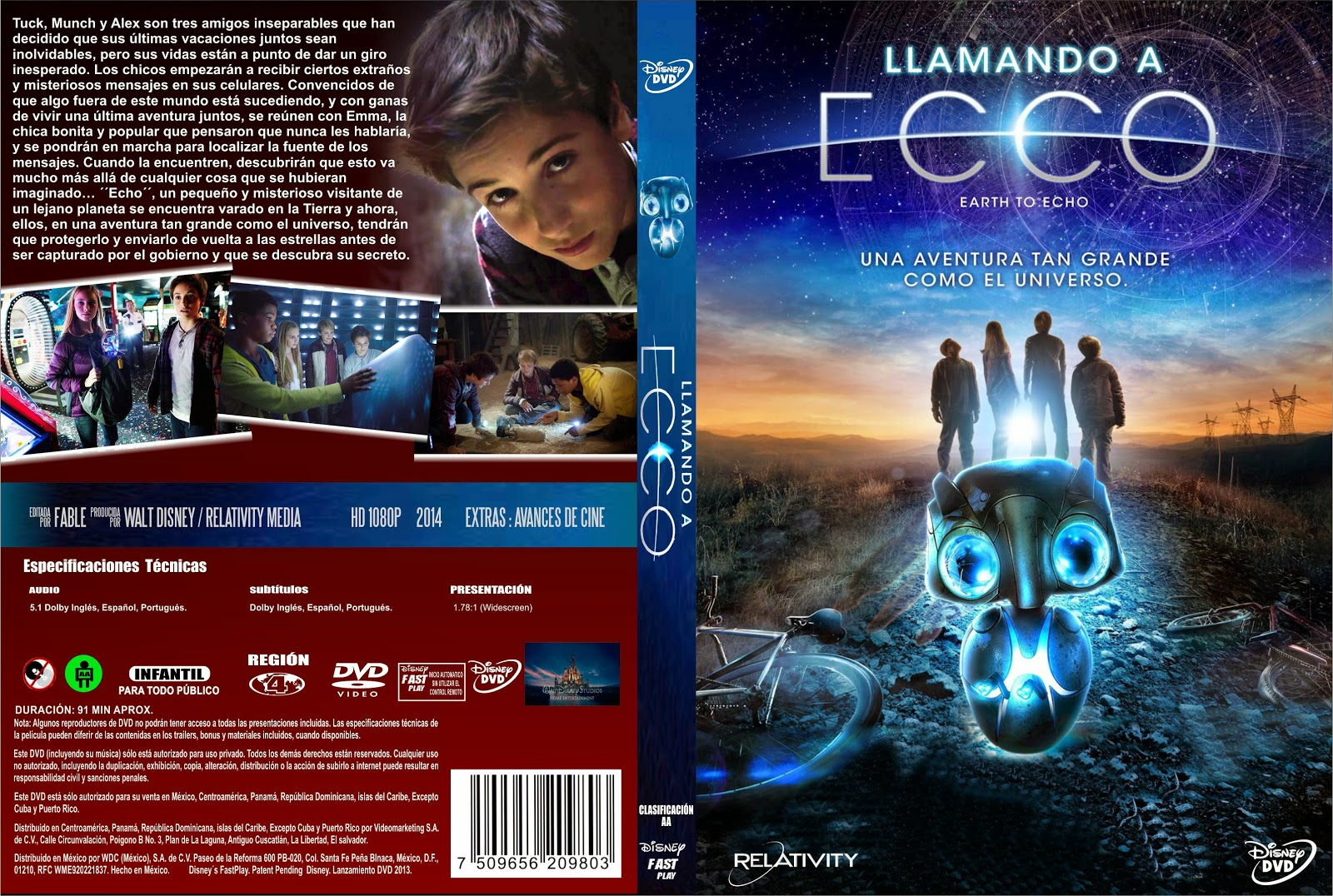 PB | DVD Cover / Caratula FREE: EARTH TO ECHO - DVD COVER ...
