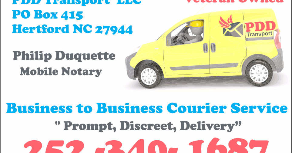 Need A Local Courier Try Pdd Transport Albemarle Tradewinds