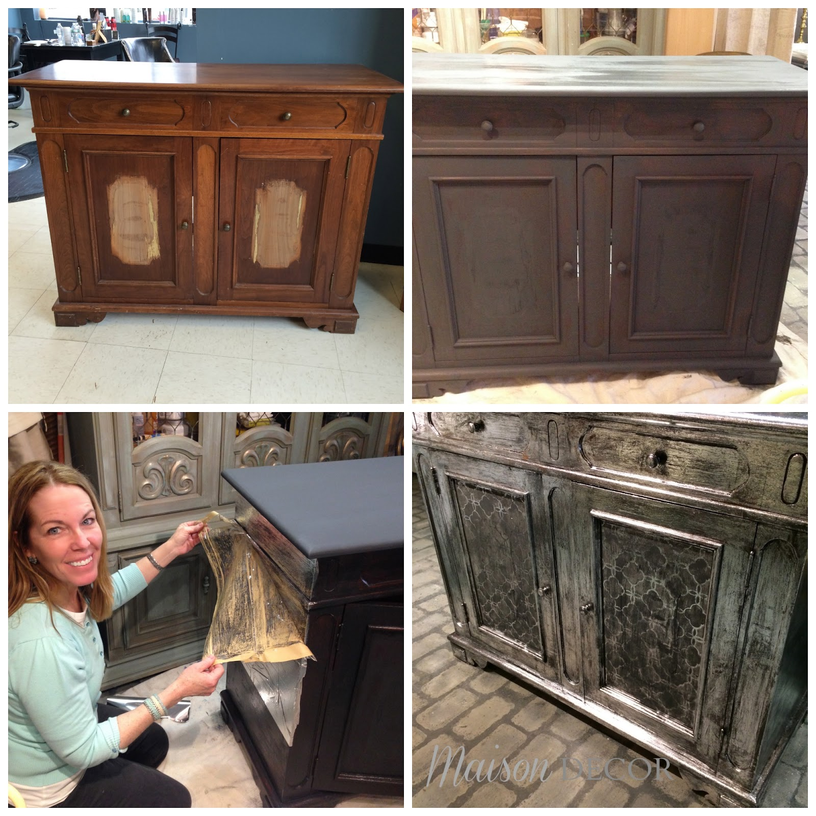 Chalk Paint Used On Kitchen Cabinets: Maison Decor: Before And After Chalk Paint Projects