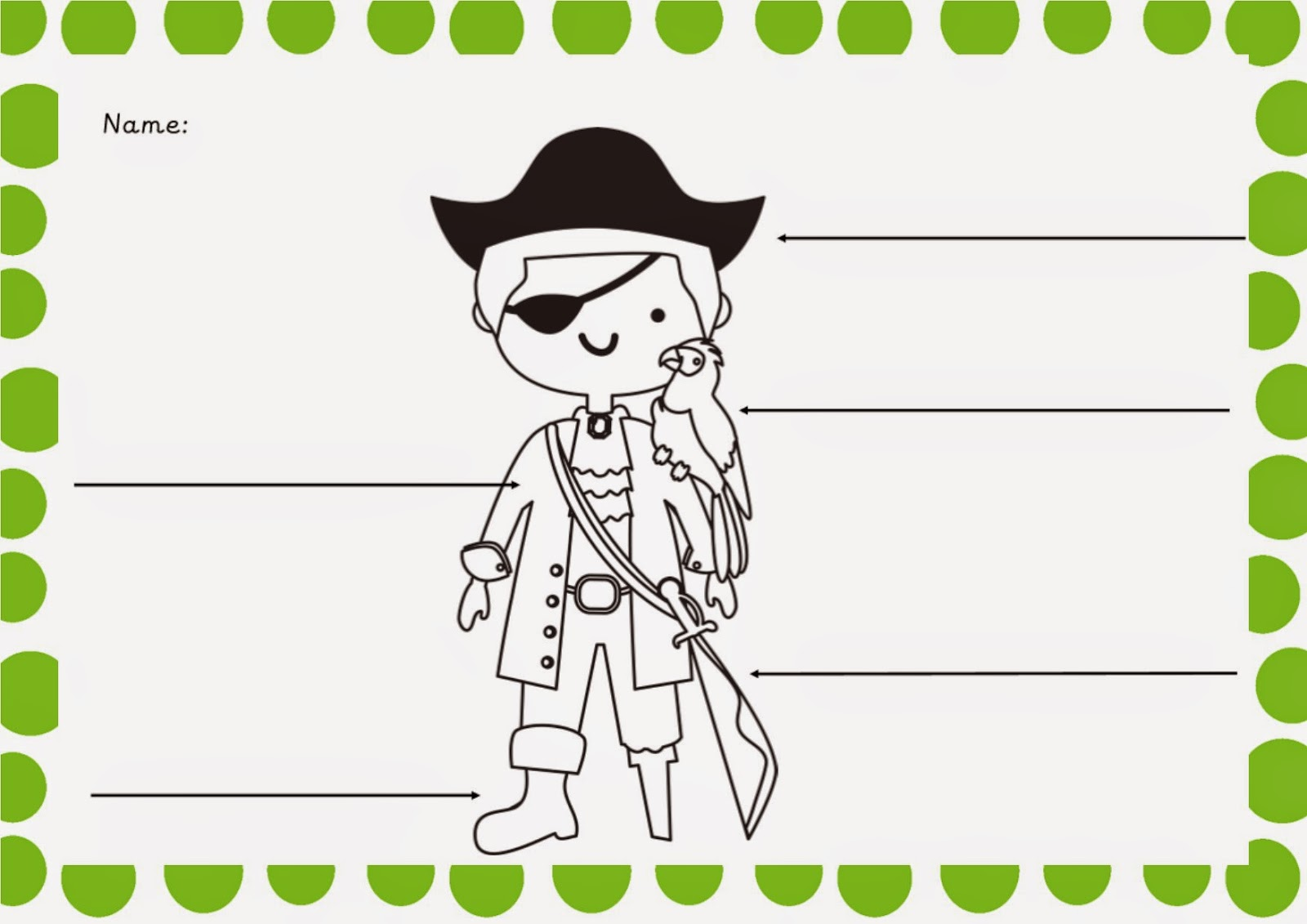 Simply Kids Learning Pirates Printable Writing Sheet