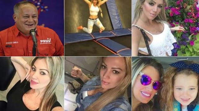 Las fotos de la actual amante y la hija oculta de Diosdado cabello