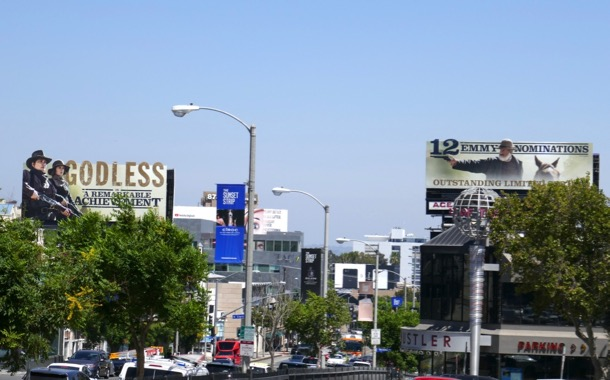 Godless Emmy nominee cut-out billboards