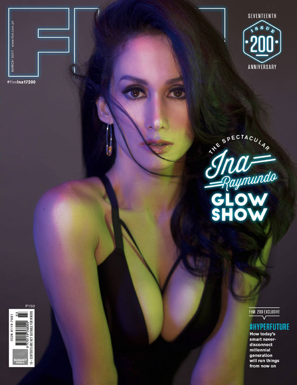 Ina Raymundo on the cover of FHM March 2017 issue