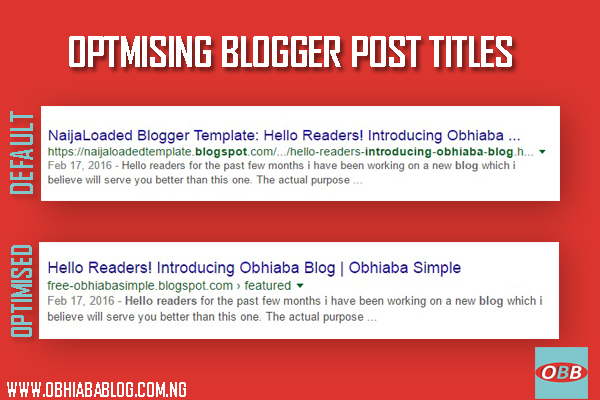 Properly Optimised Blog Post Title