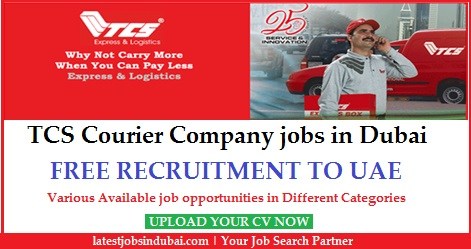 TCS Courier Company jobs in Dubai