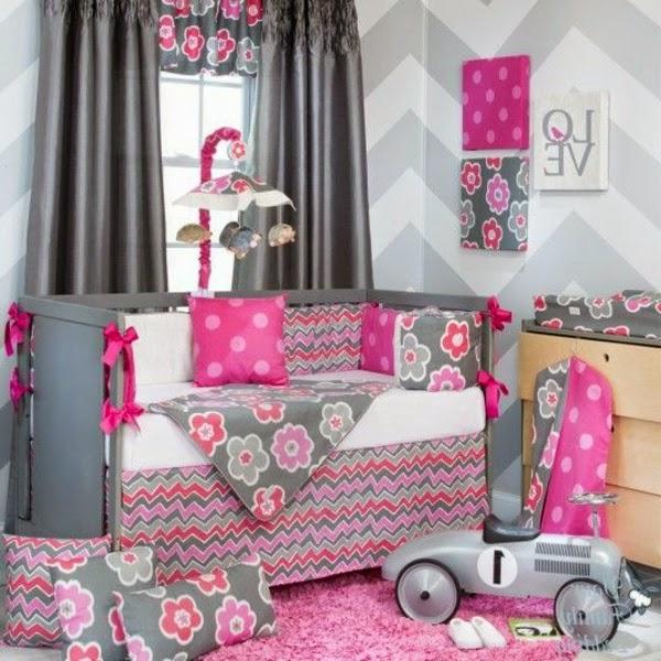 Cuarto De BebÉ En Rosa Y Blanco: Dormitorios Para Bebés En Color Rosa Y Gris