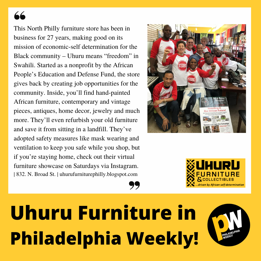 Uhuru Furniture in the Feb 2021 Issue of Philadelphia Weekly