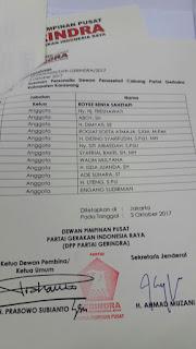 Setelah DPP Gerindra Pilih Ketua Baru DPC Gerindra Karawang,Katanya Bakal Menyusul di Parpol Lain