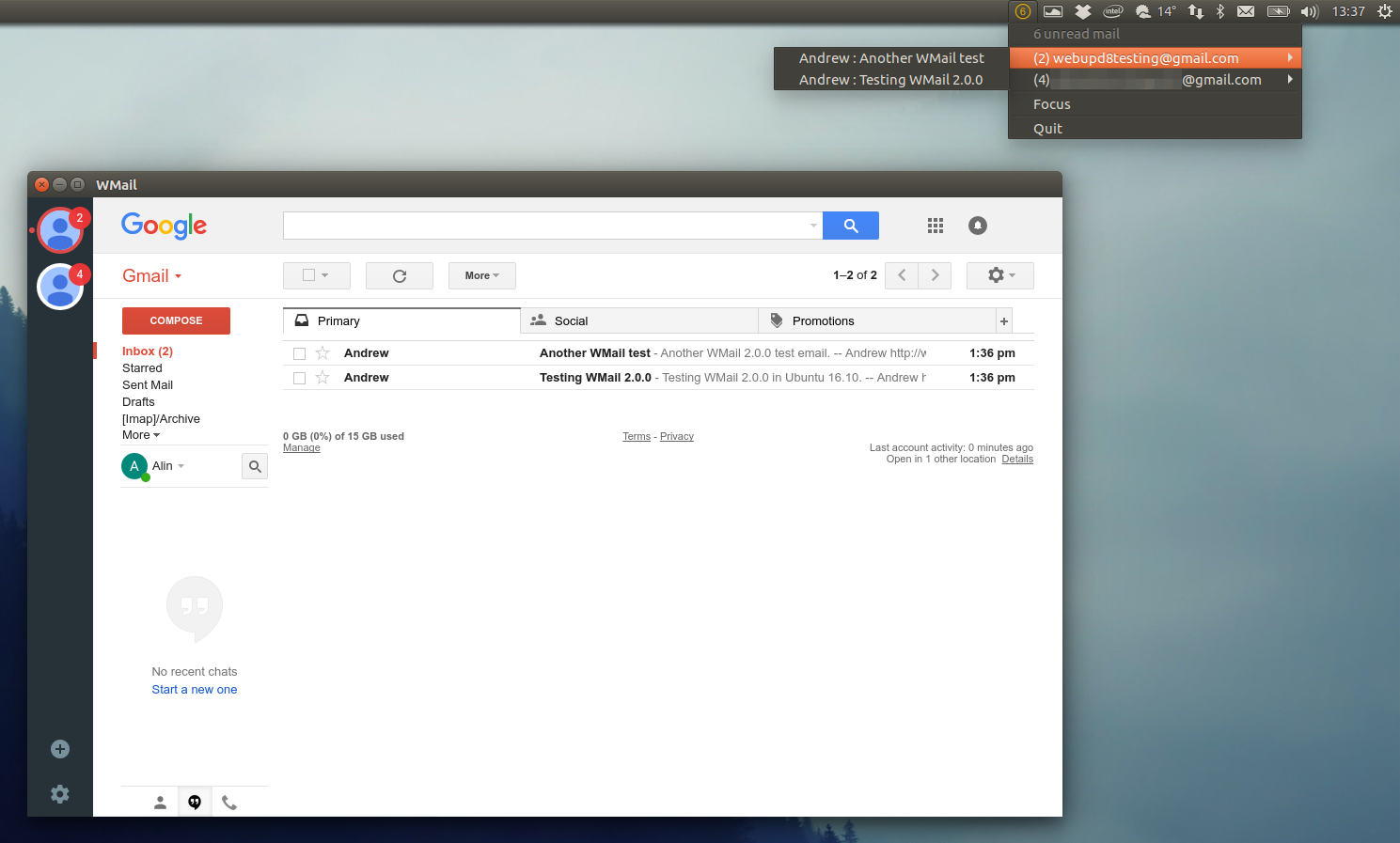 Desktop Gmail Client `WMail` 2 0 0 Stable Released ~ Web