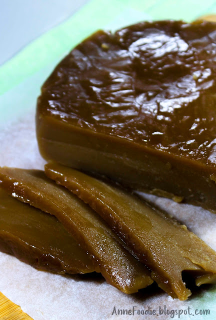 Tikoy is influenced and brought by Chinese in the Philippines. This is made up of sugar, water, glutinous flour and steamed for about 1 hour then refrigerate it for few days to set. This is how to make an easy Tikoy at home.