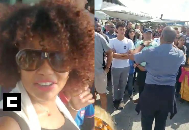 Fuego en avión donde iba Cheddy García; aterriza de emergencia en Bahamas