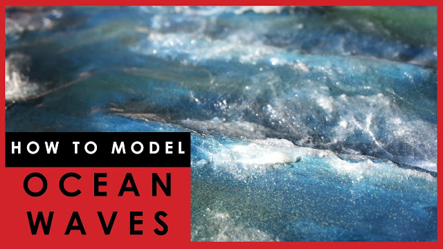How to model ocean waves, wavy rough sea