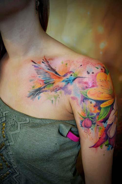 kadın omuz dövmeleri woman shoulder tattoos 20