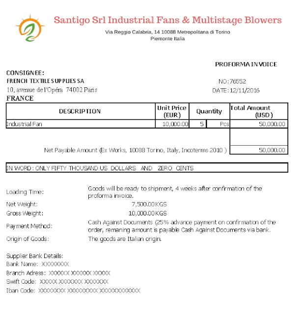 as an exporter if you are willing you prepare a proforma invoice with ex works delivery term you can use our free microsoft excel template