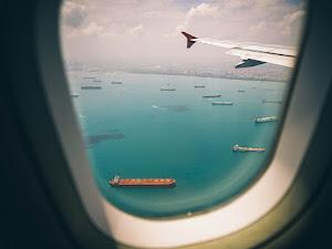 Aircraft airplane blue