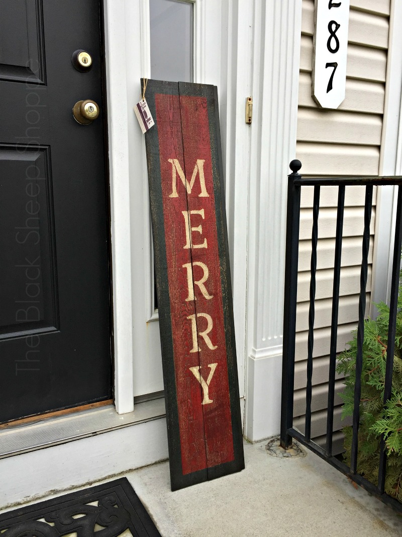 Rustic holiday barn wood sign