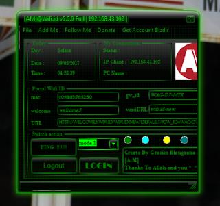 Tutorial Login WIFI.ID Secara Gratis Menggunakan AM@Wifi.ID v5.0.0 Full