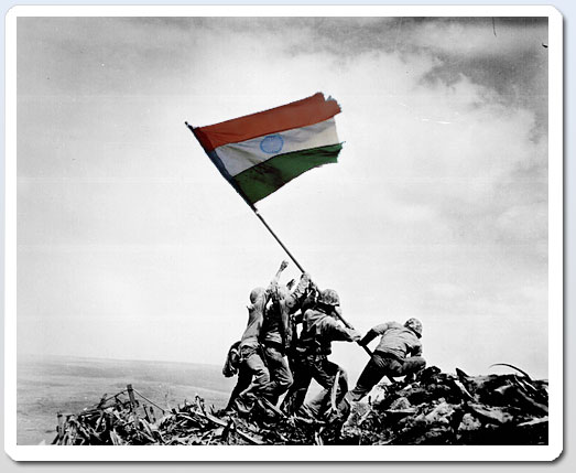 Indian Flag Wallpaper With Indian Brave Army