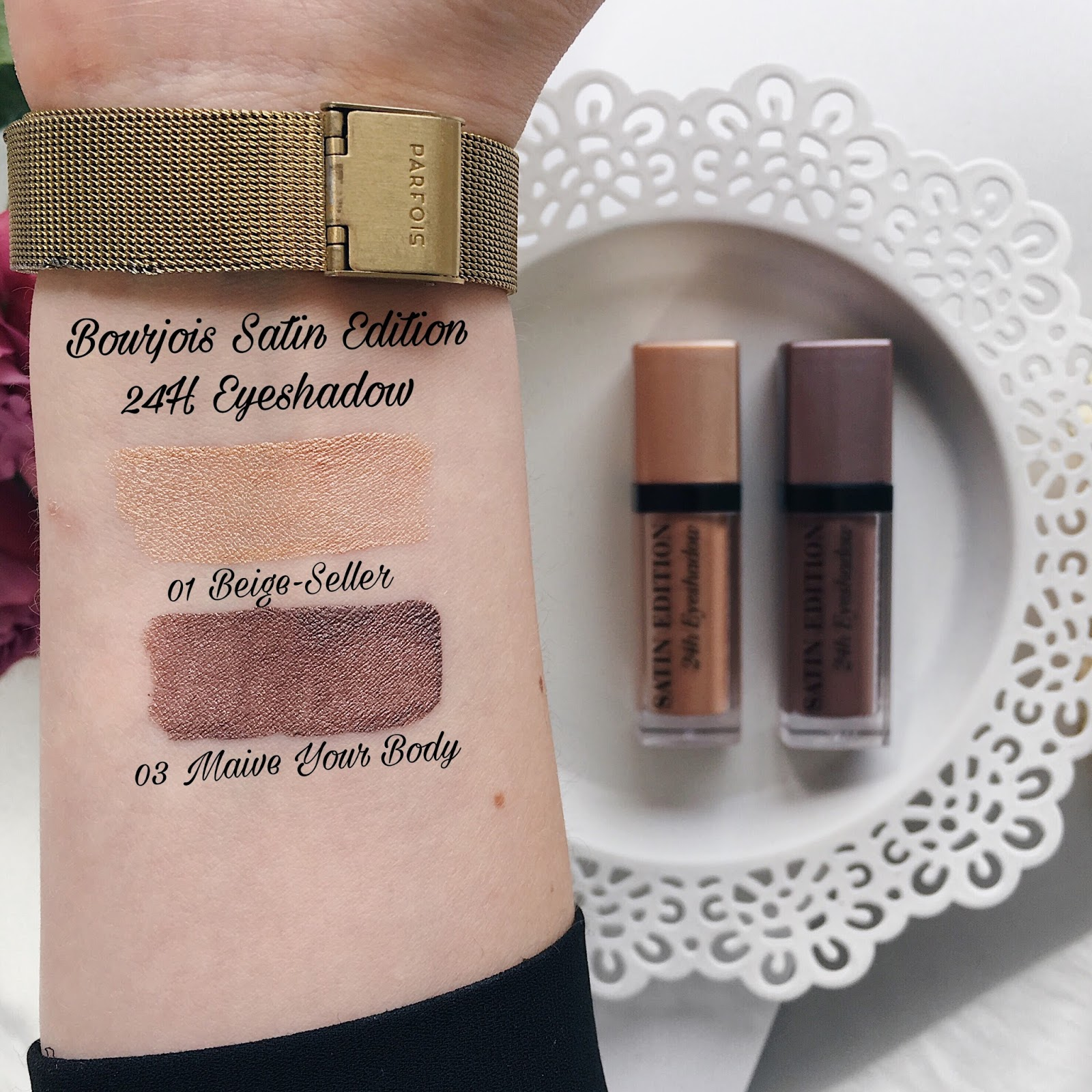 Bourjois Paris Satin Edition 24H swatches