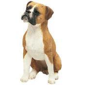uncropped boxer dog figurine Sandicast statue
