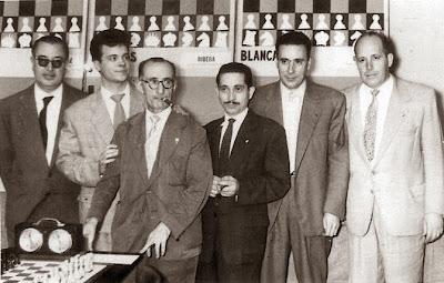 Componentes del Club Ajedrez Barcelona, campeones de España por equipos 1960