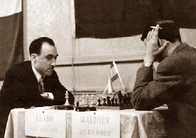 Partida de ajedrez Jaume Lladó vs Edgar Walther, Zonal 1957