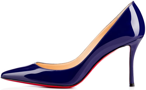 zapatos tacón azul primavera verano 2017 Christian Louboutin