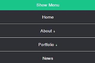 Navigasi Menu Dropdown Responsive Murni CSS HTML
