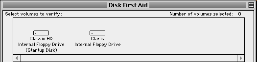 Disk First Aid floppy disk description in the SheepShaver environment