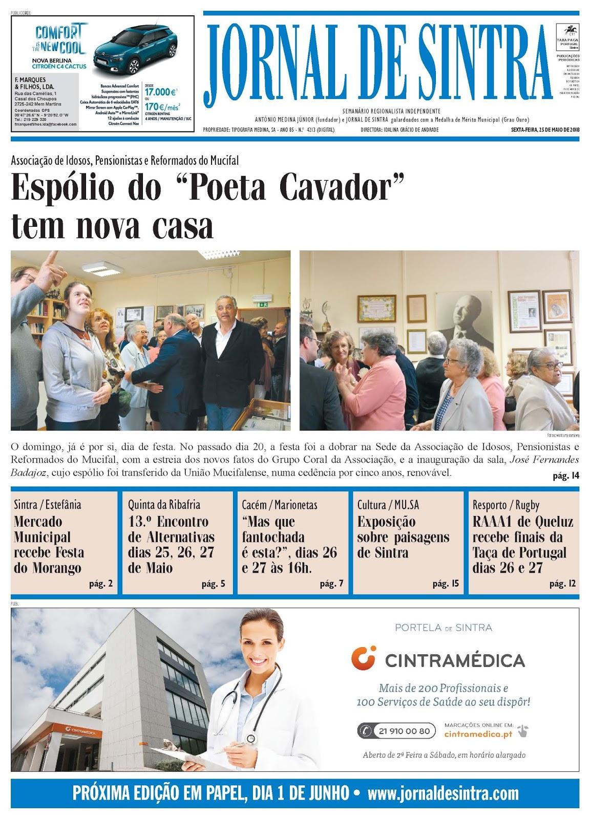Capa da edição de 25-05-2018