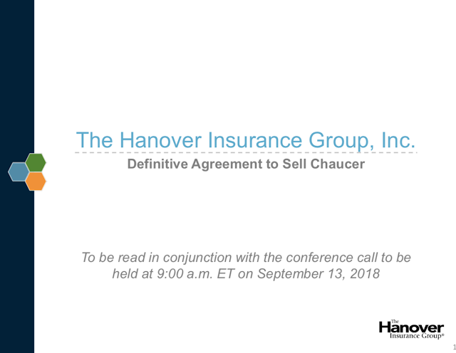 3d7e7b7f0cb A Hanover estima que a venda resultará em um ganho líquido após os impostos  GAAP