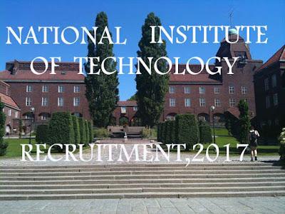 NIT Meghalaya Recruitment 2017