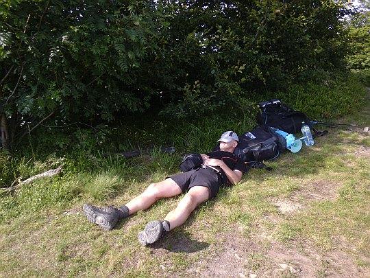 Odpoczynek na Fereczatej (1102 m n.p.m.).