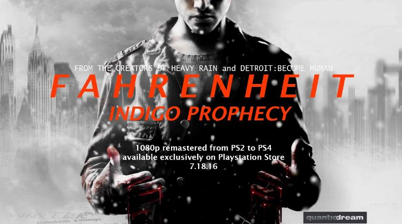 Fahrenheit: Indigo Prophecy launches on PS4 next month