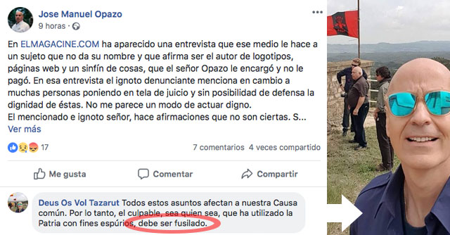 José Manuel Opazo presidente de España Responde. Dupalu