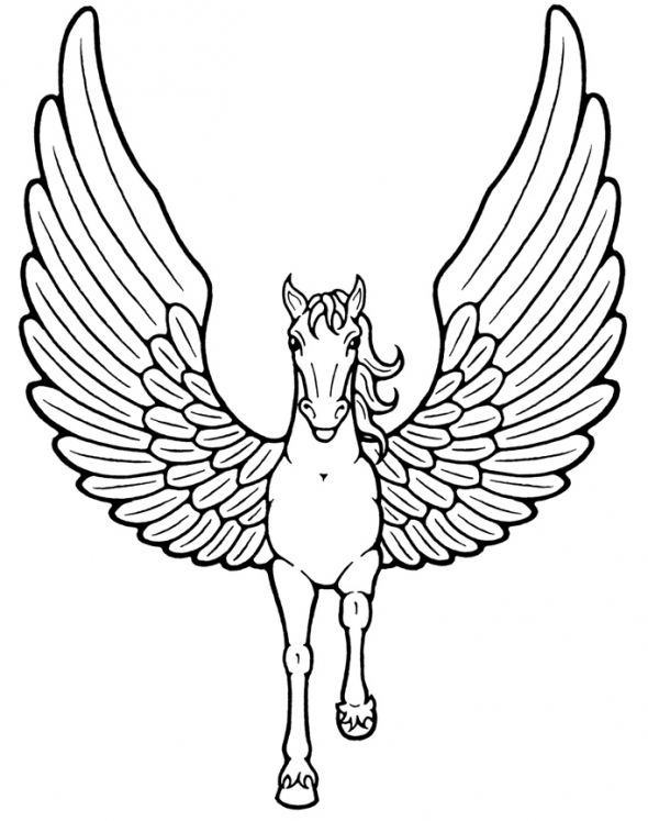 mythical creatures coloring pages to print | Mythical Creature Coloring Pages 070612» Vector Clip Art ...