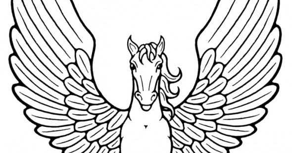 Mythical Creature Coloring Pages 070612» Vector Clip Art