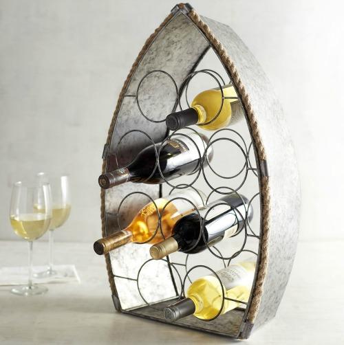 coastal wine bottle racks from a