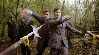 Hurt, Tennant and Smith in The Day of the Doctor