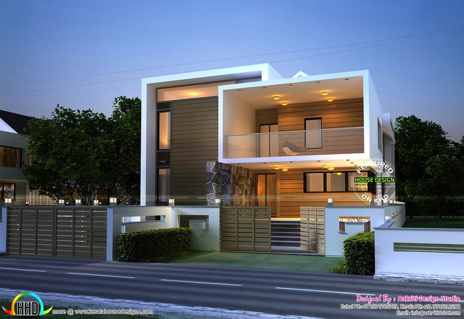 Cute Box Model Home With Basement Floor Kerala Home