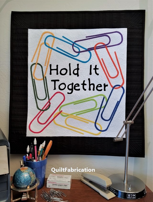 Hold It Together paperclip wall hanging